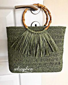 # rafyaçbag # raffiabag # stricken – Bag-Bag - My CMS Mode Crochet, Bag Crochet, Crochet Handbags, Crochet Purses, Knitting Stitches, Knitting Designs, Knitting Patterns, Crochet Patterns, Handmade Handbags
