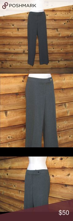 """Talbots Stretch Wool Italian Fabric pants Talbots Stretch Wool Italian Fabric Pants, Size 4  *Excellent pre-owned condition. No stains, holes or other imperfections.  Details: Talbot's Color: Charcoal Gray Size: 4 Style: Flat front, Straight leg Two front pockets No back pockets Flat front Fully lined 96% Wool/4% Spandex Dry Clean Only  Measurements: Waist: 28"""" Hips: 38"""" Inseam: 30"""" Talbots Pants Straight Leg"""