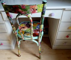 Chair love -- decoupage with napkins?
