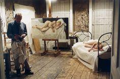 Lucian Freud in his studio, 2007, photo by David Dawson http://artistandstudio.tumblr.com/tagged/Lucian%20Freud