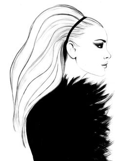 Black & white fashion illustration // Kornelia Debosz