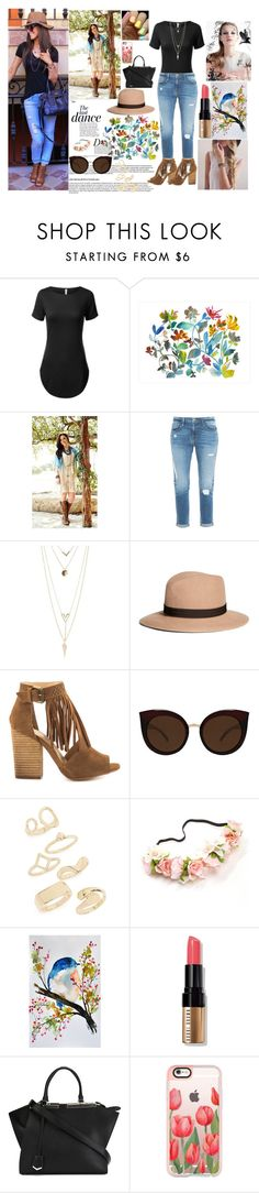 """""""Spring"""" by sukh-deol ❤ liked on Polyvore featuring Anja, Dot & Bo, Tasha Polizzi, Frame Denim, Charlotte Russe, Brooks Brothers, Chinese Laundry, Quay, Topshop and Bobbi Brown Cosmetics"""