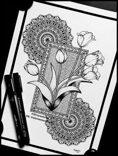 Easy Mandala Drawing, Mandala Sketch, Flower Art Drawing, Watercolor Mandala, Mandala Art Therapy, Mandala Art Lesson, Mandala Artwork, Cute Doodle Art, Doodle Art Designs