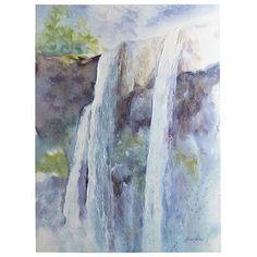 Serene Waterfall Art