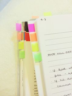 color coordinate the chapters in the text book with your notes.