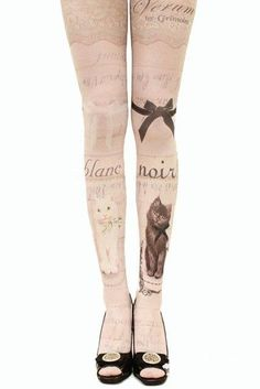 """New """"Tattoo"""" Cat Tights Collection!"""