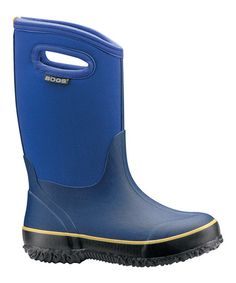 Take a look at this Blue Classic High Handles Rain Boot - Kids by Bogs on #zulily today!