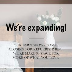 Today\'s the last day to visit our showroom!   But fear not! We\'ll re-open in 2 weeks time, and we\'re bringing more lovely pieces for you to see.   What would you like to see in our showroom?    #showroomlife #showroom #newtable #newproducts #visit #reclaimedwoodtable #reclaimedwoodsign #reclaimedwoodfurniture #bedsides #bedroomidea #bedroomdecor