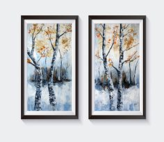 Birch Trees Printable Instant Download Of Original Abstract