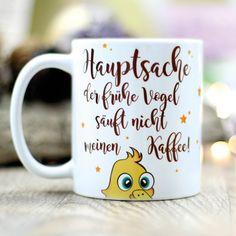 Becher & Tassen - Geschenk Tasse Kaffeetasse Der frühe Vogel Säuft - ein Designerstück von wandtattoo-loft bei DaWanda