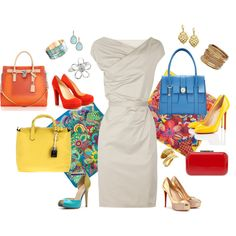 White Dress w/ all these colors... perfection!!!