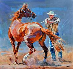 """Conversation"" - Originals - All Artwork - Sophy Brown Gauguin, Cowboy Art, Horse Drawings, Southwest Art, Animal Paintings, Horse Paintings, Equine Art, Henri Matisse, Horse Art"
