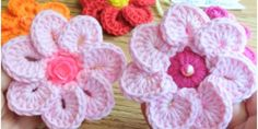 Crochet Easy Puff And Daisy Flowers - Crafts Time Rose Crafts, Flower Crafts, Crochet Cord, Easy Crochet, Beautiful Crochet, Beautiful Flowers, Crochet Waffle Stitch, Headband Crafts, Doilies Crafts