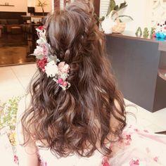 ナチュラル可愛い❤ダウンスタイル   Dressy(ドレシー)byプラコレウェディング - Part 3 Kawaii Hairstyles, Bride Hairstyles, Pretty Hairstyles, Hair Vine, Wedding Looks, Wedding Makeup, Bridal Style, Hair Inspiration, Hair Beauty