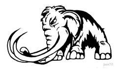 Mammoth Logo clear by jase72 Mascot Design, Logo Design, Evil Smile, Elephant Logo, Prehistoric Animals, Aboriginal Art, Sports Logo, Native American Indians, Bull Terrier