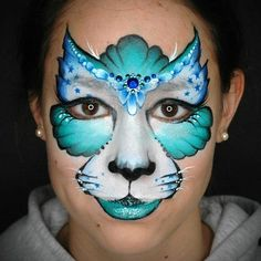 Creative Kitty Face Paint Step-by-Step by Annabel Hoogeveen - One of the essential designs for any face painter is the Kitty Cat. Use this handy step-by-step to - Cat Face Paint Easy, Kitty Face Paint, Mime Face Paint, Face Painting Tips, Face Painting Designs, Painting For Kids, Diy Painting, Animal Face Paintings, Animal Faces