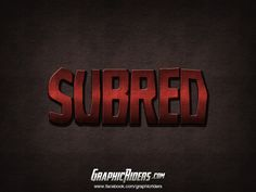 Photoshop text effect  – Subred (free photoshop layer style, free psd file) #graphicriders