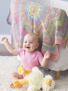 From the Middle Baby Blanket | Yarn | Knitting Patterns | Crochet Patterns | Yarnspirations