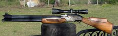 Eun Jin Sumatra 2550 .25cal PCP Air Rifle, adjustable power wheel, 80-100 fpe, 6 shot repeater, 112 decibels