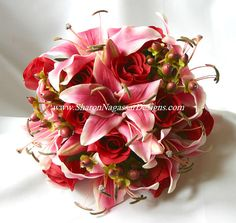 Fall Wedding Bouquets | sharon nagassar designs silk, latex, real touch, custom wedding ...