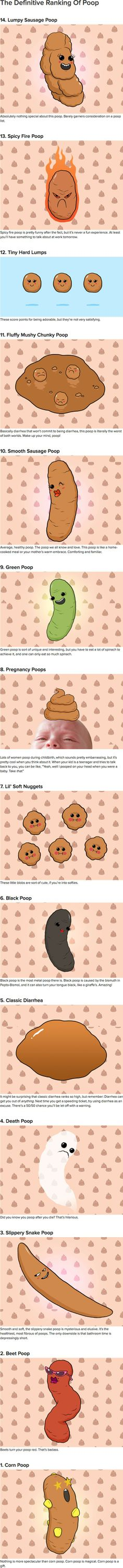 The Definitive Ranking Of Poop