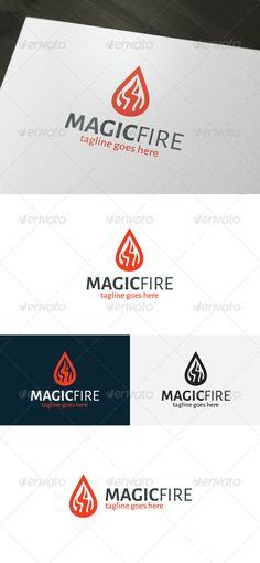 Magic Fire Logo by shaoleen • Fully Editable Logo • CMYK • AI, EPS, PSD, PNG files • Easy to Change Color and Text