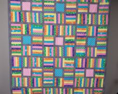 One Block Wonder Lap or Wall Quilt 67.5 x 49 by Quilts4Comfort