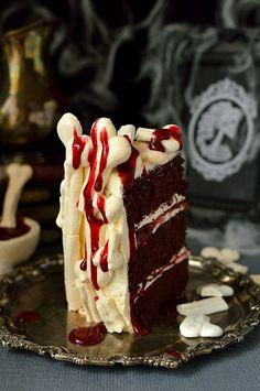 Meringue Bone Palace Halloween Cake