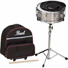 "Pearl SK-900 Snare Drum Kit with Backpack Case by Pearl. $209.99. The redesigned SK900 Snare features a full size 14 x 5.5"" steel snare drum with a simple to use snare strainer and easy tunability. This drum is equally at home in the concert band, or on the drumset with both sensitivity and projection for both settings. All the 900 Series Student Percussion cases have been redesigned with updated styling features, additional and reinforced handles, added padding, and outsi..."