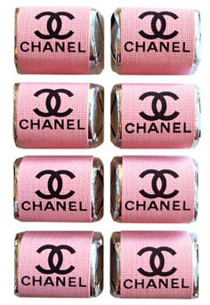 Chanel Pastel Pink Chocolate Nuggets by hauteandcool on Etsy, $9.00
