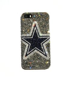 STAND OUT AT THE STADIUM!!    This listing is for a handmade Swarovski crystal iPhone case, featuring the Dallas Cowboys. Hard phone case is