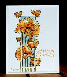 TLC381 Poppies by Biggan - Cards and Paper Crafts at Splitcoaststampers -  Hero Arts Flower Stamp