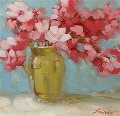 Pink floral still life original oil painting - Media - Artist Daily