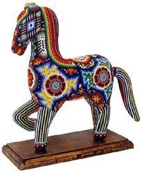 Huichol bead art - horse