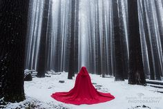 Little Red Riding Hood Little Red Ridding Hood, Red Riding Hood, Photography Portfolio, Fine Art Photography, Horror Drawing, Thigh High Boots Heels, Photo Walk, Winter Photos, Photo On Wood