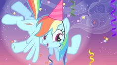 """Rainbow """"Who's ready to get their party on? Our Friendship, My Little Pony Friendship, Some Beautiful Pictures, Mlp My Little Pony, 80th Birthday, Rainbow Dash, My Images, Mlp Pony, Madness"""