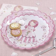 Princess Pink Party Paper Plates
