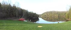 Panoramic view of the beach area at Gould Lake Conservation Area May 2014 @Cataraqui Region Conservation Authority