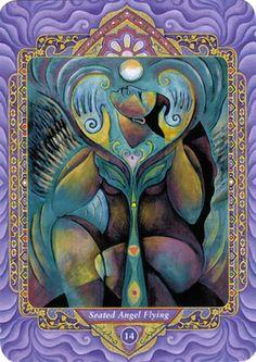 XIV - L'ange assis en vol (tempérance) - Tarot triple déesse par Isha Lerner…