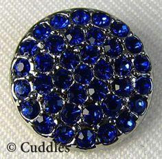 Ritzy Sapphire Ginger Snaps Button Charm Jewelry Blue Jewel Fun SN06 08 New S | eBay