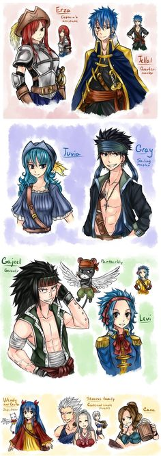 AU - pirates NaLu. 4 by LeonS-7 on DeviantArt