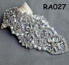 Strass Applique accessoires mariée Trim cristal strass perles Applique mariage robe Sash ceinture bandeau RA999 bricolage