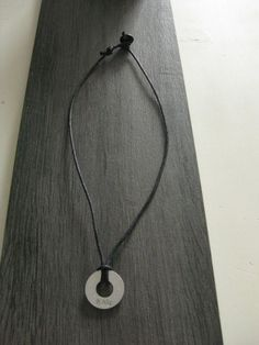 men's necklace with stamped initials