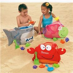 Kids Beach Tote with Toys Beach Totes and Toys Lillian