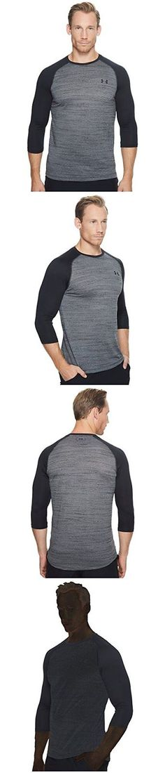 Shirts 59368: Under Armour Men S Tech 3 4 Sleeve T-Shirt Black Black 3X-Large -> BUY IT NOW ONLY: $38.74 on eBay!