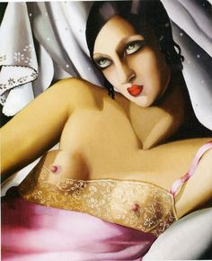Tamara de Lempicka - La chemise rose - 1927