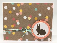 Handmade Easter Card, Handcrafted Easter Card.  Free Shipping to US & APO/FPO. by FingerStringPaperCo on Etsy https://www.etsy.com/listing/516849801/handmade-easter-card-handcrafted-easter