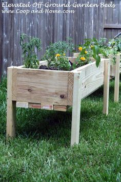 YC recently moved into a rental house, and we used the long weekend to build some elevated raised garden beds. These are built a little over a foot off the ground so that they won't kill the grass ...
