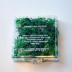 Dries Van Noten invitation for S/S 2015 Web Design, Book Design, Print Design, Graphic Design, Design Ideas, Invitation Card Design, Invitation Cards, Wedding Invitations, Wedding Stationery