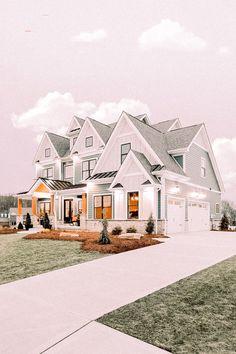 Dream House Exterior, Dream House Plans, Simple House Plans, Luxury House Plans, Big Houses Exterior, Dream Home Design, My Dream Home, Small House Design, Dream Life